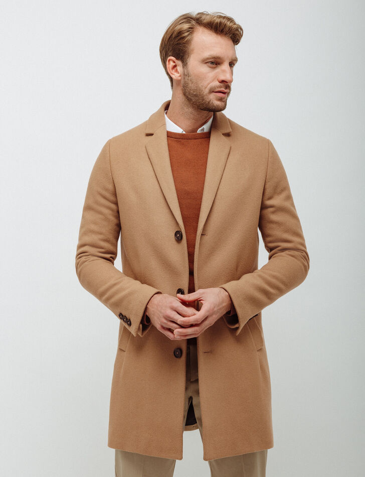 Manteau homme beige
