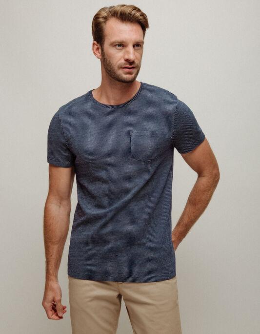 Tee-shirt homme col rond micro motifs