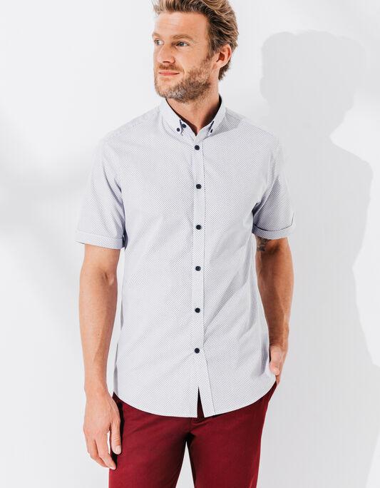 Chemise homme manche courte coupe droite
