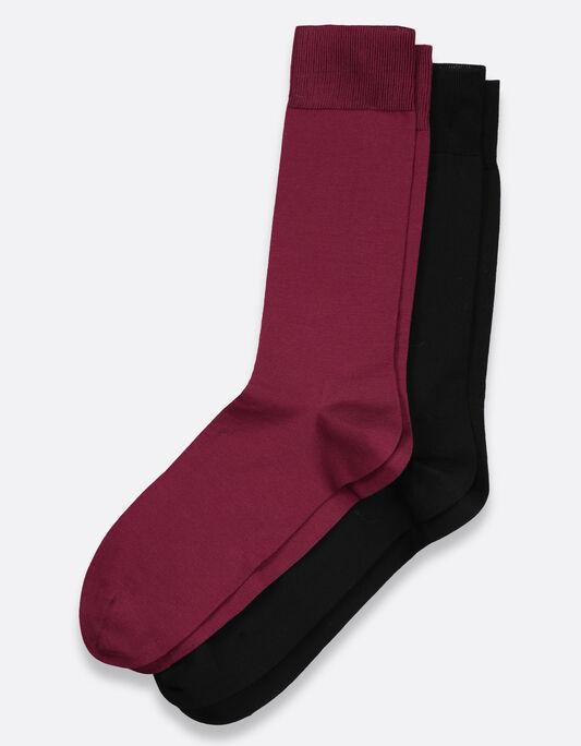 Chaussettes homme pack par 2 en coton fil d'écosse