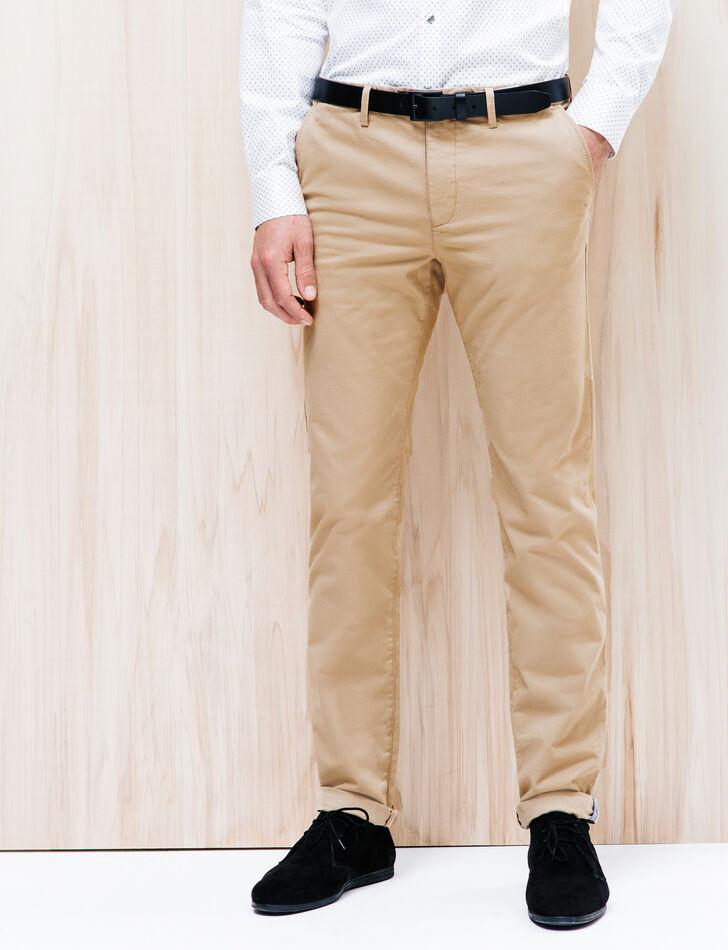 pantalon chino slim coton brice. Black Bedroom Furniture Sets. Home Design Ideas