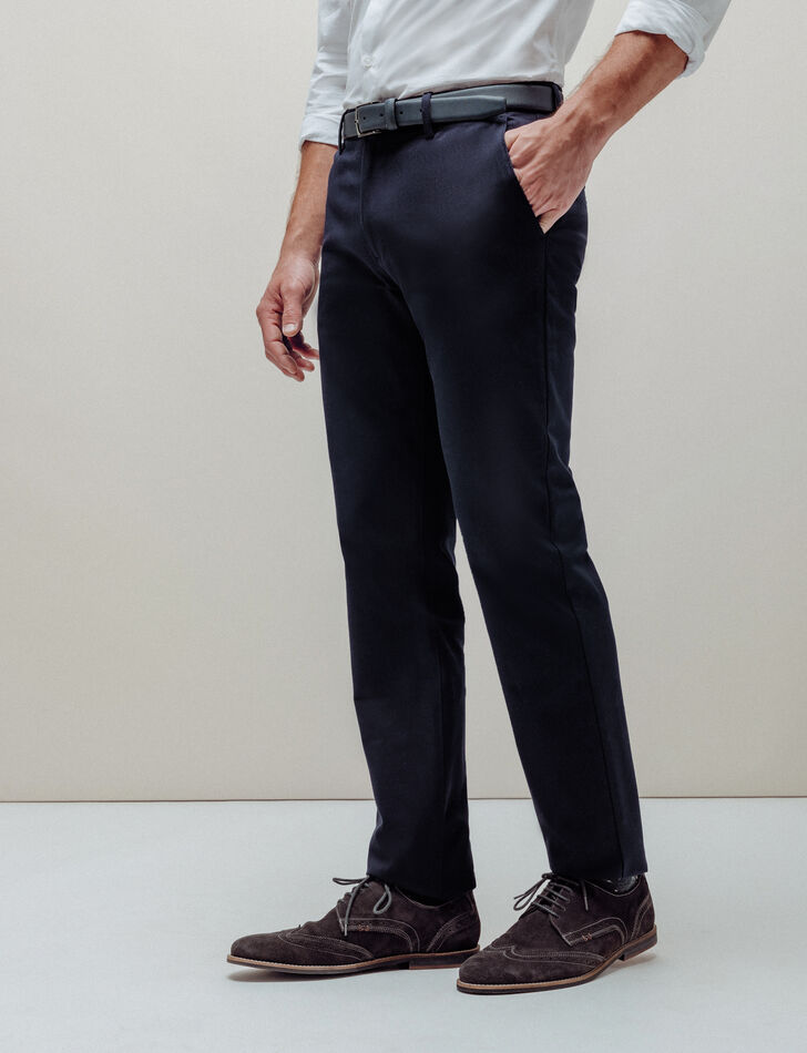pantalon chino homme regular bleu marine brice. Black Bedroom Furniture Sets. Home Design Ideas