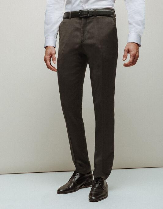 Pantalon costume homme coupe slim avec laine