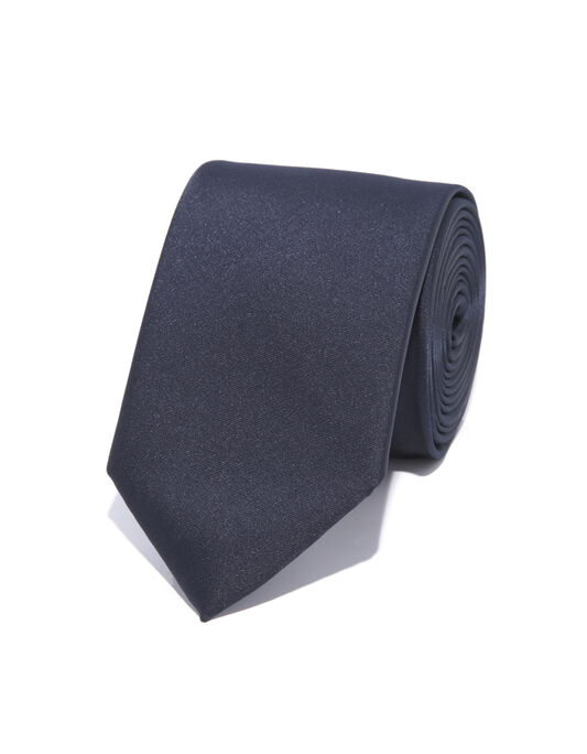 Cravate 6,5cm polyester marine