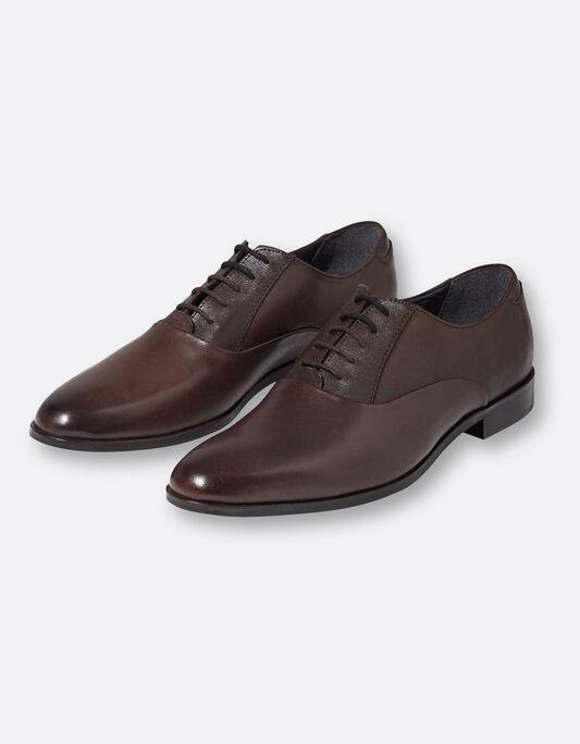 Chaussures costume homme en cuir ébène