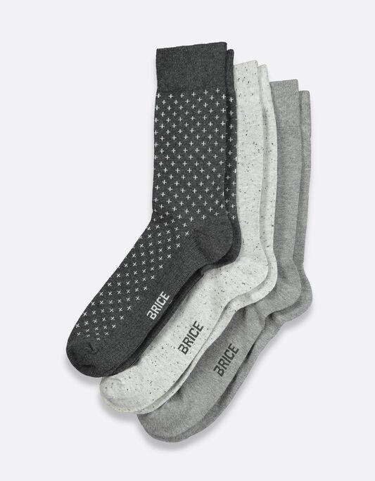 Chaussettes homme pack par 3 en coton