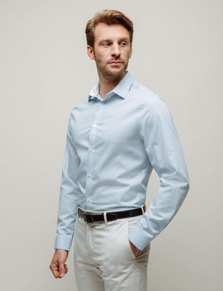 chemise homme pastel coupe slim jacquard brice. Black Bedroom Furniture Sets. Home Design Ideas