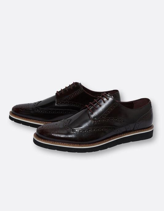 Chaussures en cuir homme fleuries