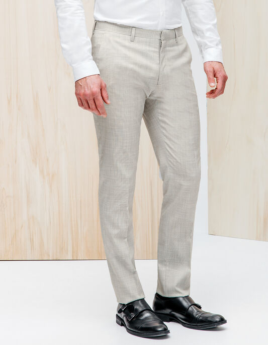 Pantalon de costume gris clair