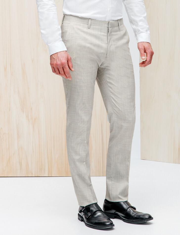 Pantalon de costume gris clair brice - Costume homme gris clair ...