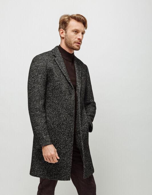 Manteau homme long col tailleur