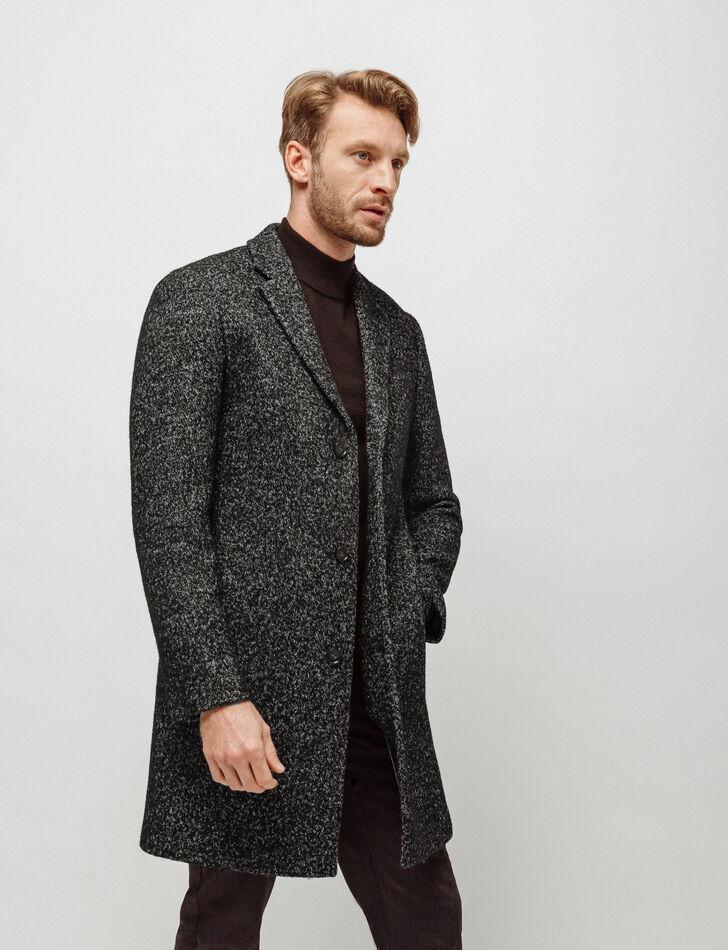manteau homme long col tailleur brice. Black Bedroom Furniture Sets. Home Design Ideas