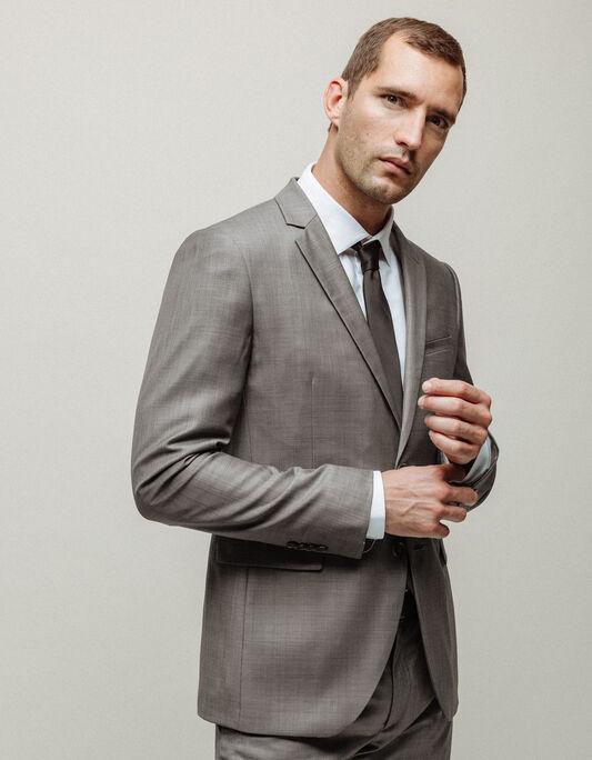 Veste costume homme regular grise unie