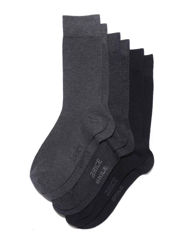 chaussettes homme en coton unies par 3 brice. Black Bedroom Furniture Sets. Home Design Ideas