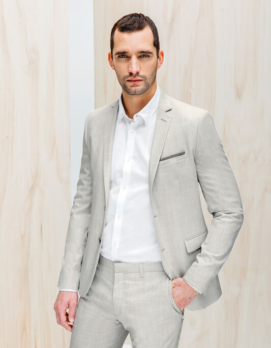 Veste de costume gris clair