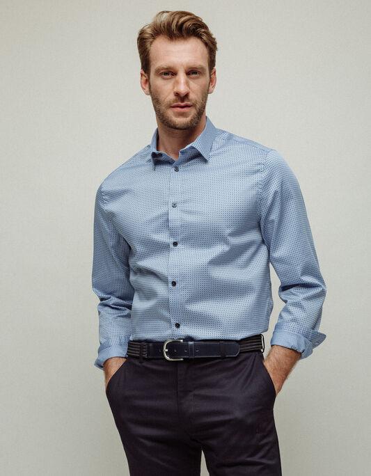 Chemise homme regular col français imprimé