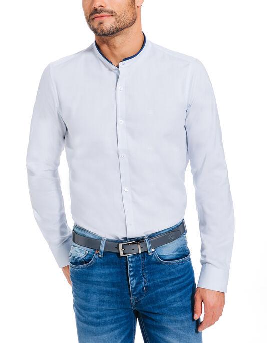 chemise coton col officier slim fit
