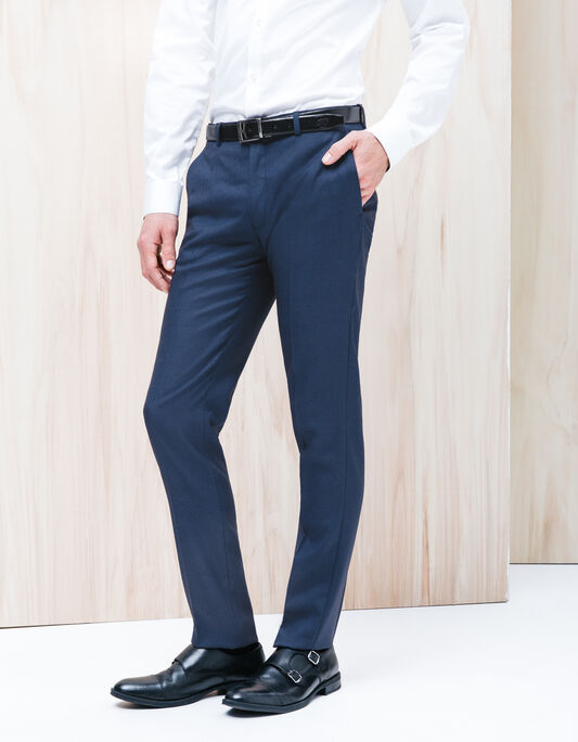 Pantalon costume homme slim bleu vif