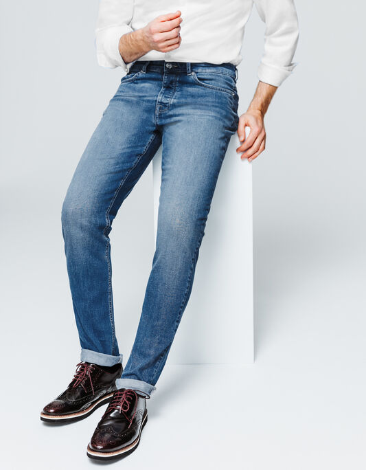 Jeans homme slim stone clair