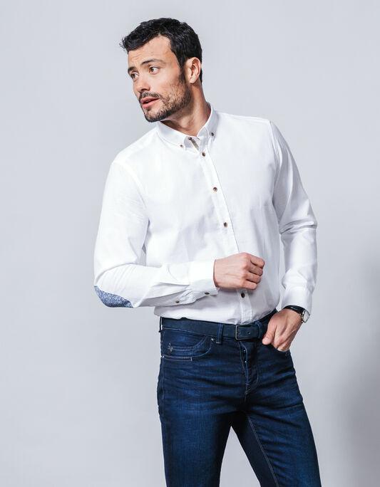 Chemise coton fantaisie coupe droite