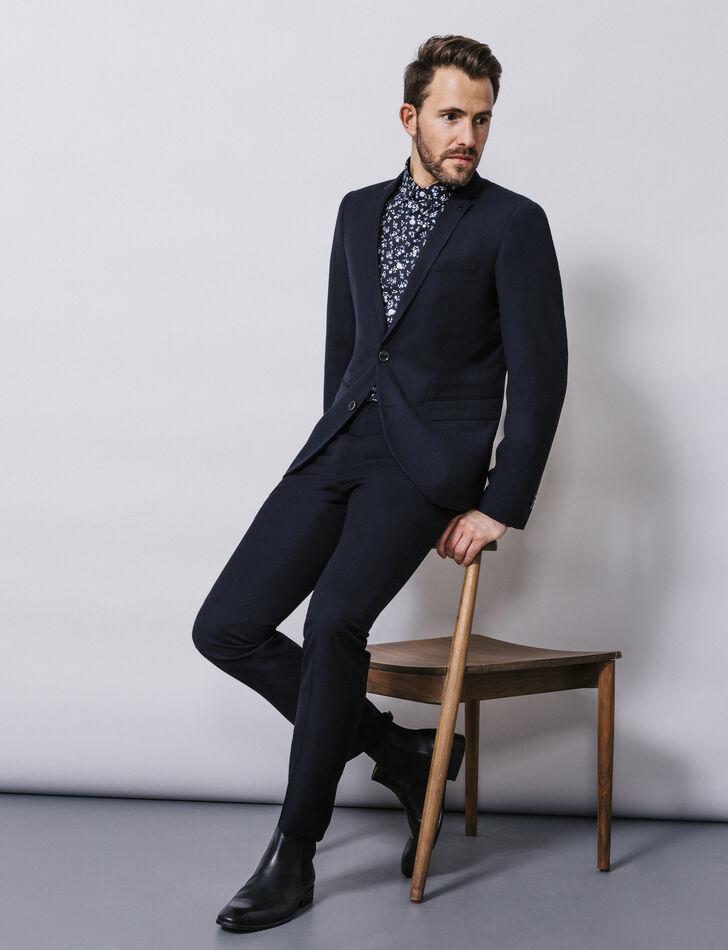 veste de costume homme bleu marine brice. Black Bedroom Furniture Sets. Home Design Ideas