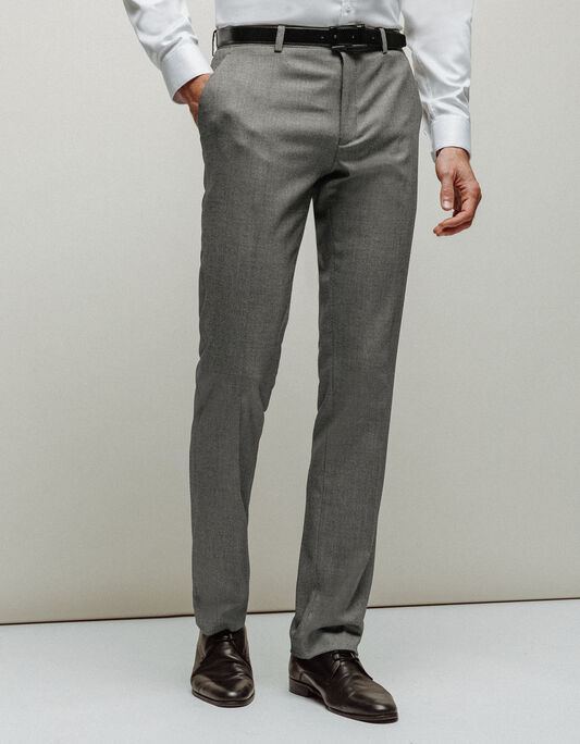 Pantalon costume homme straight noir blanc