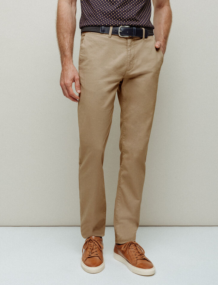 Pantalon chino homme coupe regular