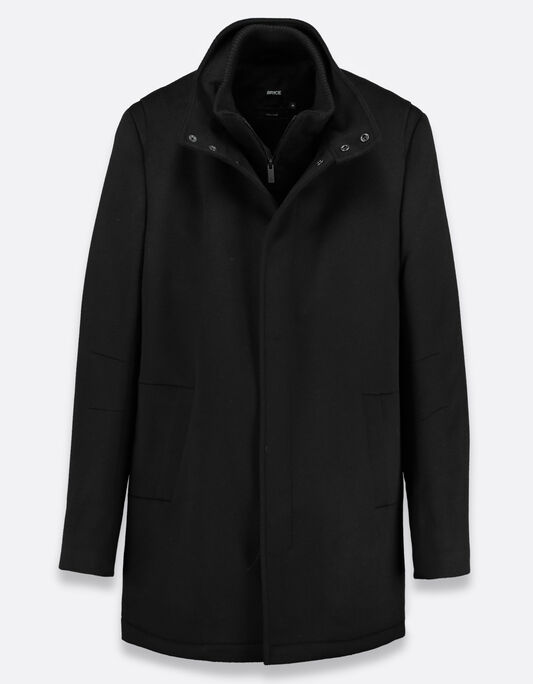 Manteau homme long fermeture double