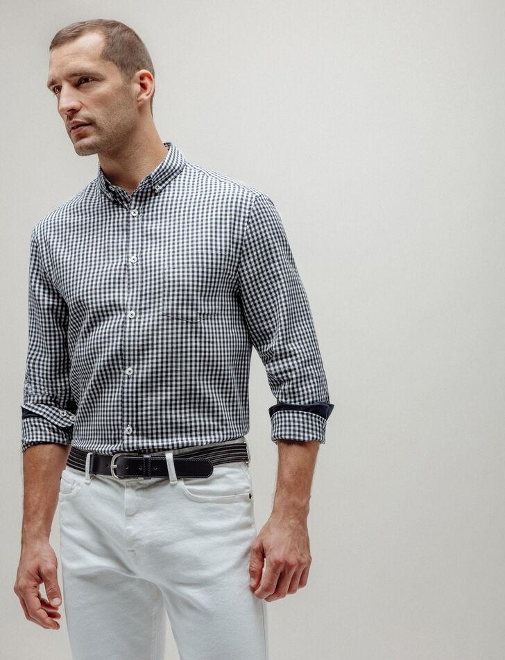 Chemise homme regular à carreaux vichy