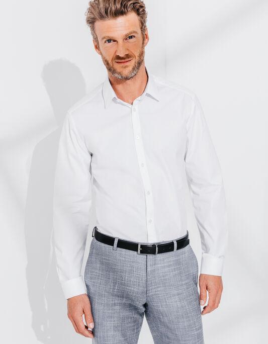 Chemise blanche en coton égyptien , coupe droite