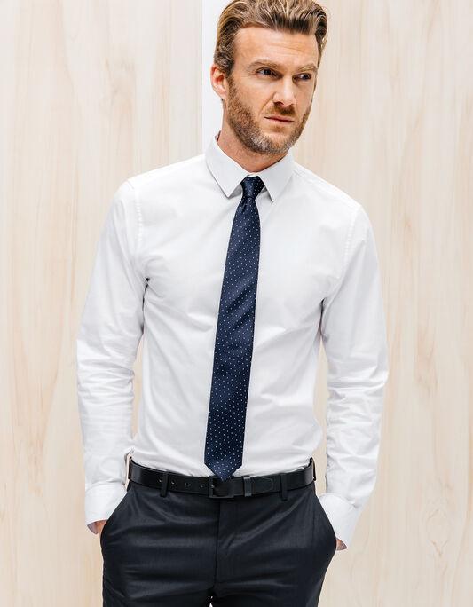 Cravate 6,5cm soie détail pois