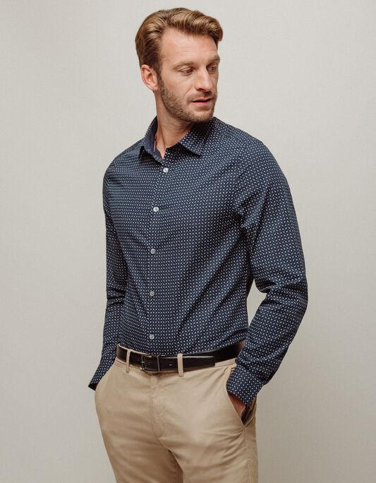Chemise homme slim petits motifs