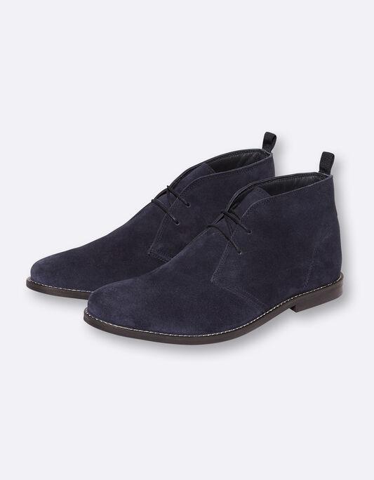 Chaussures montantes homme en cuir suédé