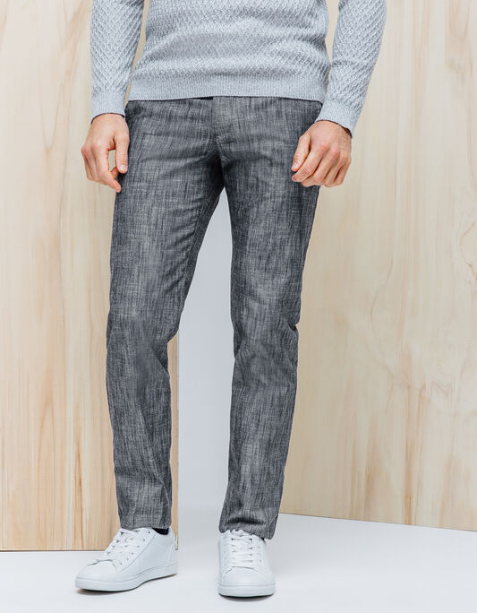 Pantalon chambray slim