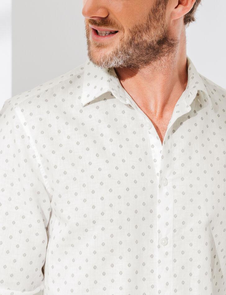 chemise homme coton lin imprim coupe droite brice. Black Bedroom Furniture Sets. Home Design Ideas