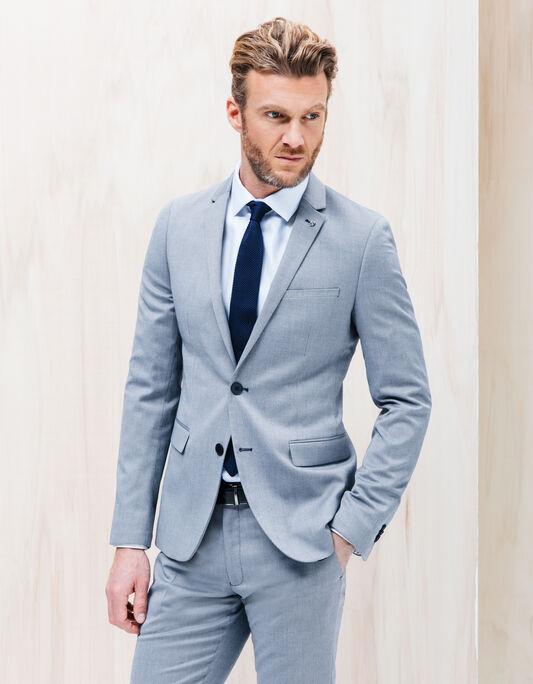 Veste costume homme slim effet brillant