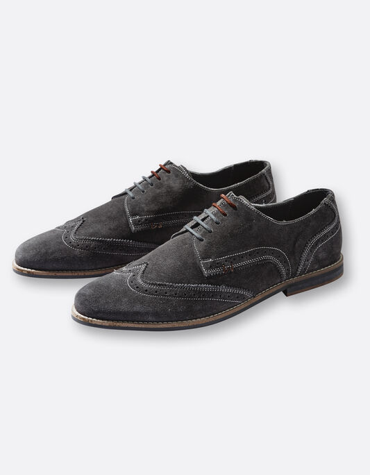 Chaussures homme derbies gris anthracite