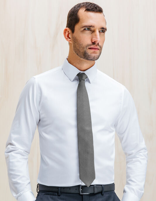 Cravate 6,5cm soie tissée