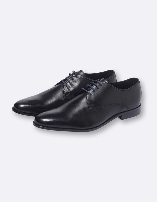 Chaussures homme derby cuir noires