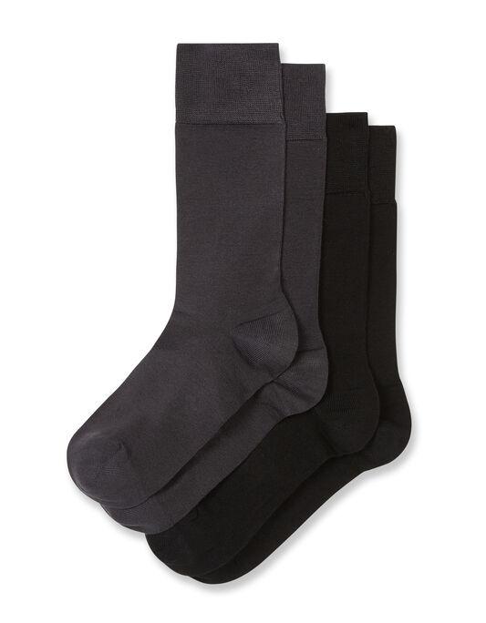 Chaussettes homme pack par 2 en viscose de bambou