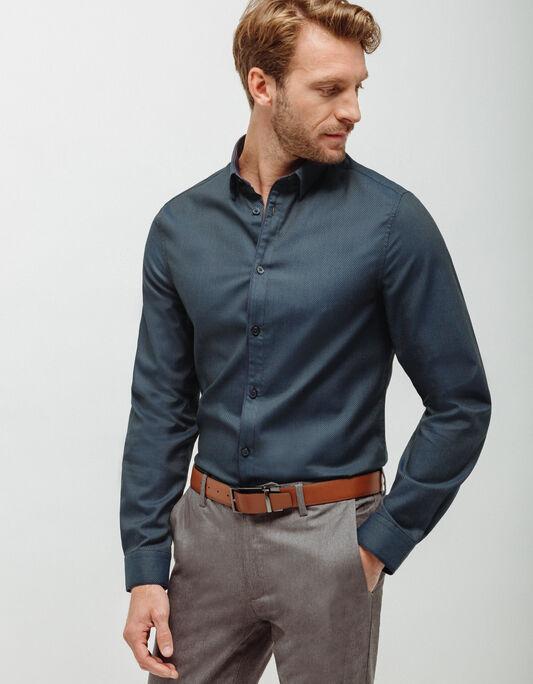 Chemise homme slim à micro motifs
