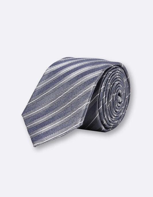 Cravate homme rayée soie 6,5cm