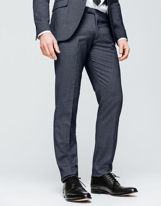 Pantalon costume homme slim motifs jacquard