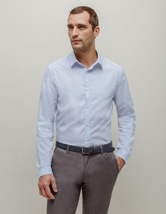 Chemise homme à rayures slim
