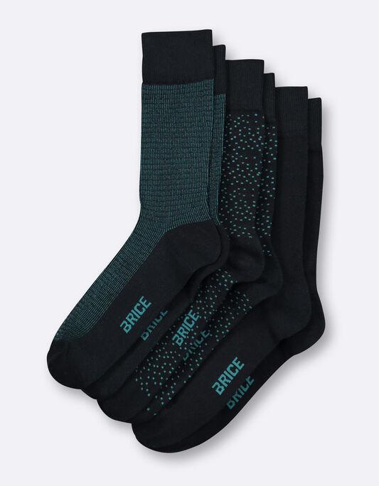 Chaussettes homme en coton fantaisies et unies par
