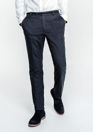 Pantalon de costume slim à découpe
