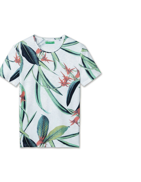 Tee shirt imprimé maxi fleurs tropicales