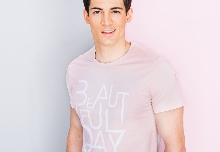"T-shirt col rond imprimé ""Beautiful Day"""