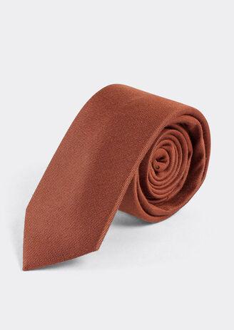 Cravate unie couleur cuivre