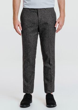 Pantalon de costume slim tissu fantaisie